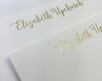 100 Gold Foil Correspondence Cards with Envelopes