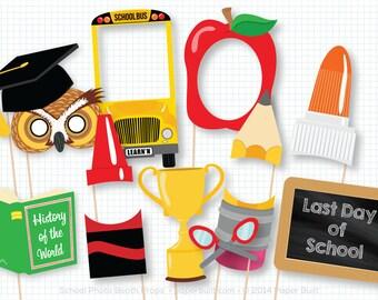 Back to School Photo Booth Props, First Day Photobooth Props, Teacher Appreciation, Teacher Gift Idea, School Party Decor, Classroom Decor