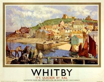 Whitby, North Yorkshire, England, LNER Travel Poster Print