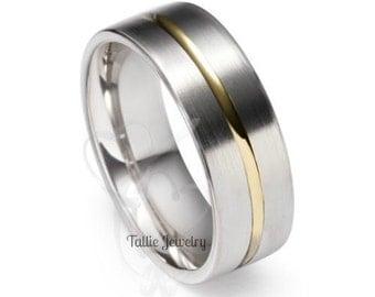 Mens Wedding Rings,10K Gold Two Tone Wedding Rings,Womens Wedding Bands,Matching Wedding Rings,His & Hers Rings,Matching Wedding Bands