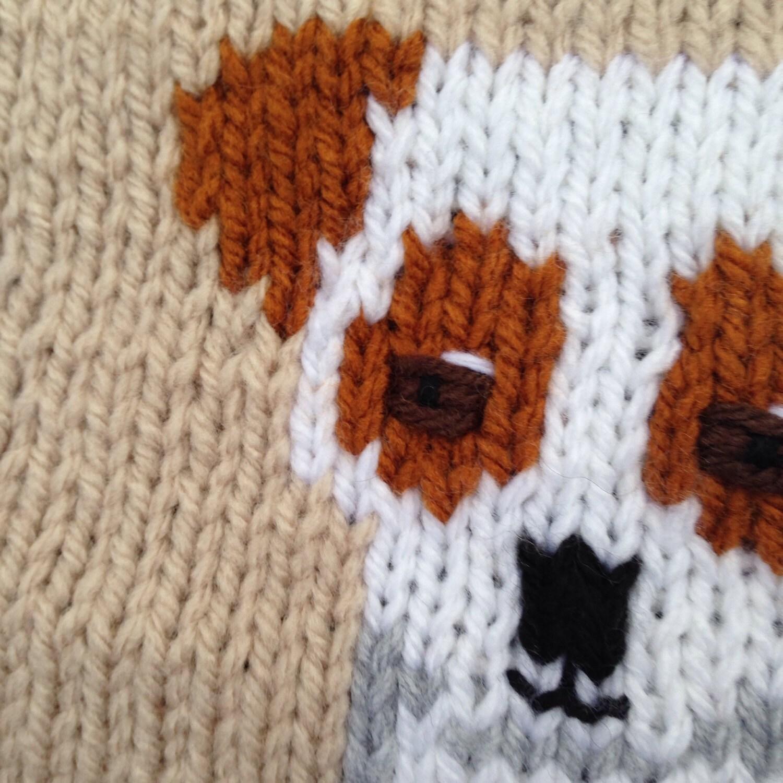 Knitting Pattern For Jack Russell : Jack Russell baby blanket/pram cover/comfort blanket, chunky knitting pattern...