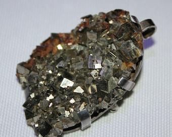 Hematite Brooch and Pendant