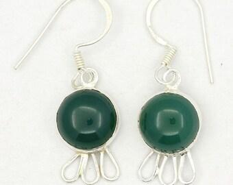New Green Onyx 925 Sterling Silver Earrings Fashion Jewelry A1824