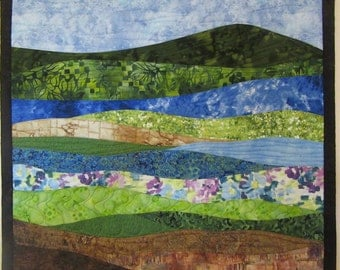 Art Quilt Abstract Landscape 7, Wall Hanging, Nature quilts