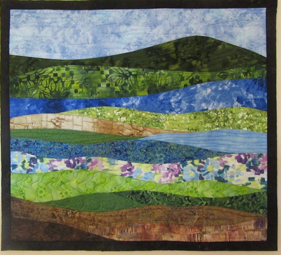 Art Quilt Abstract Landscape 7, Wall Hanging