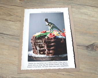 11x14 Trex Wall Decor • Domestic Goddess Print • Buttercream Dreams Wall Art •Witty Home Decor •Gift for Baker • Gift for Cake Lover