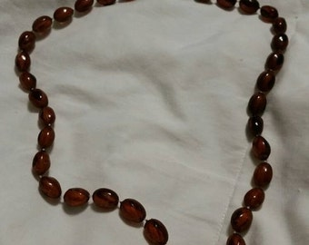 On Sale 22 inch Brown Beaded Costume Jewelry Fashion Accessory Necklace