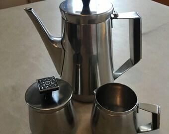 Modern 60's stainless steel coffee server