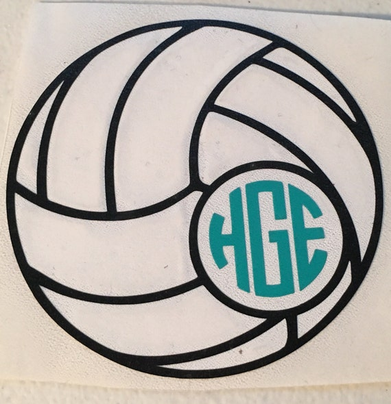 Volleyball With Monogram Decal For Yeti Tumbler