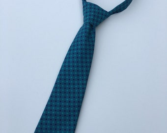 Boys Neck Tie, Turquoise Necktie, Infant Tie, Toddler Neck Tie, Blue Necktie