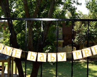 Baby Shower Banner  WELCOME BABY - Photo Prop Customize Your Name