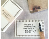Classiky Brown Border Blank Letterpress Note Cards