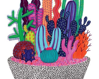 Cactus Vision Print