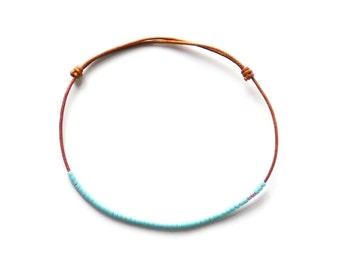 BRIGHT GREEN BLUE- bracelet