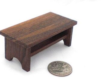 Dollhouse Furniture - Walnut Coffee Table, Wood Table, Mini Furniture, Miniature Furniture, Mini Table, Dollhouse Miniature