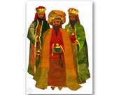 "GIFTS of the MAGI - ""We Three Kings""  Contemporary Holiday Greeting Card - Artwork by Linda Henry (CCHR2012015)"