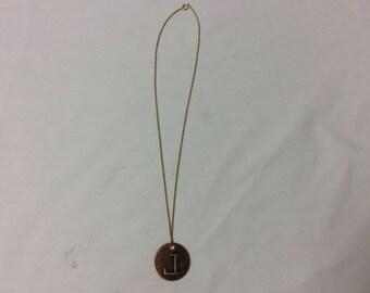 """Letter vintage necklace letter """"L"""""""