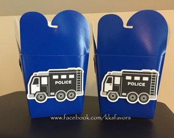 Police Favor Boxes - Set of 8