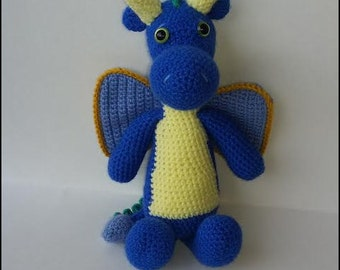 Ready to Ship - Crocheted Boy Dragon