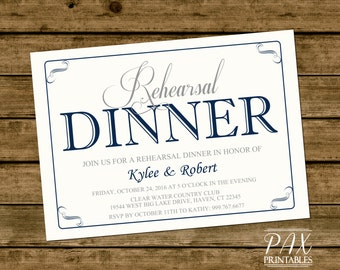 Invitation - Printable Rehearsal Dinner - Wedding Rehearsal, Dinner Invitation, Couples Shower, Engagement Party, Bridal Shower