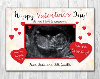 Valentine's Day Pregnancy Announcement - Digital File