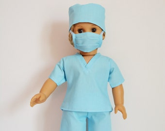 "Handmade Doll Clothes Hospital Scrubs Nurse Doctor fits 18"" American Girl Dolls A"
