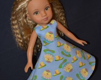 """Handmade Doll Clothes Dress fits 14"""" H4H G2G or 13"""" Corolle Les Cheries Easter Eggs 20"""