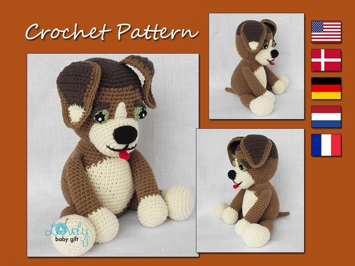 Amigurumi Crochet Puppy Pattern : Amigurumi Pattern Crochet Puppy Crochet Pattern by ...