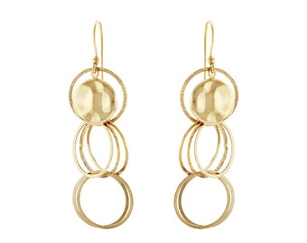 14k Gold over Silver Dangling Earring