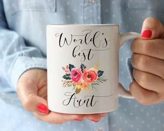 Worlds Best Aunt Mug, Gifts for Aunt, Aunt Mag, Aunt Coffee Mug, Worlds Best Aunt, Christmas gift Aunt, New Aunt Mug, Best Aunt Ever, Gift