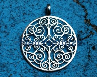 Mandala of Understanding pendant (1,3 x 1,1 inch) - Stainless Steel