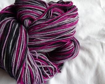 Self-Striping Hand Dyed Sock Yarn - Superwash Merino - 100g (3.5 oz)