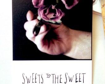 Sweets to the Sweet 10x15 art print postcard