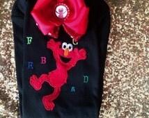 Elmo inspired onesie
