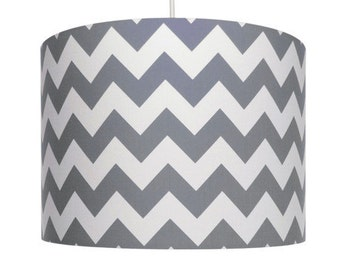 Grey and White Chevron, Riley Blake, Cotton Drum Lampshade