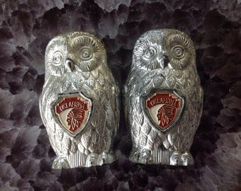 Oklahoma owl salt and pepper shakers vintage