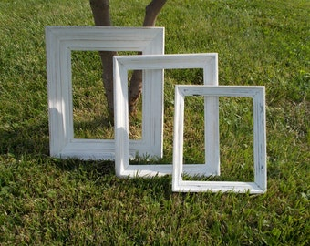 Set of 3 Shabby Picture Frames at Ancient of Daze