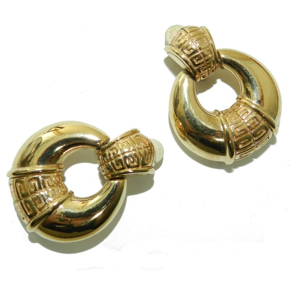 Iconic Givenchy Logo Earrings, Vintage Givenchy Doorknocker Earrings, Givenchy Paris New York, High End Designer Fashion Jewelry, Couture