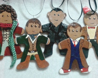 Doctor Who gingerbread - polymer clay gingerbread doctors