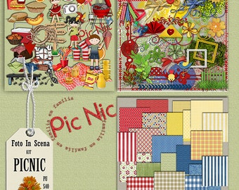 Digital kit PICNIC, girl, boy, food