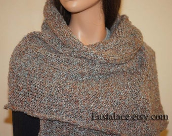 Mohair Knitting Wrap Shawl, Mohair Wide  Scarf, Wrap Wide Scarf For Man or Women