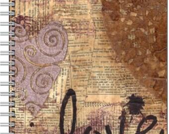 Vintage Love - Spiral bound journal