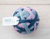 AUDREY - vibrant hand dyed self striping sock yarn