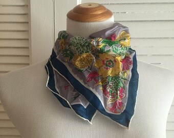 Hand Rolled Silk Scarf, Made in Japan