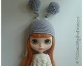 Blythe Hat - FunkyFun Lilac - OOAK Handmade