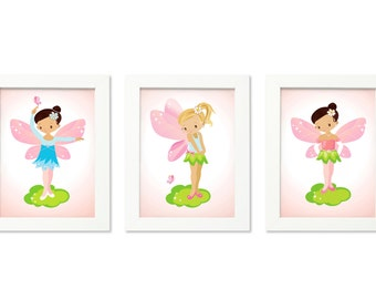 Baby girl nursery art, Fairy room decor, Nursery art girl, Fairy nursery, Fairy wall art