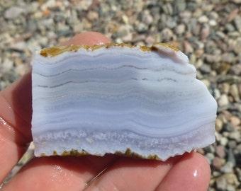 Blue Lace Agate Slab (50X30X7.5)