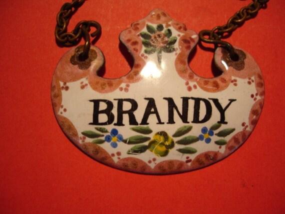 Hand Painted Enamel Wine Label