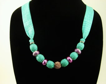 Blushing Teal Necklace