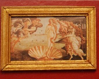 "Dollhouse Framed Fine Art Stamp ""Birth of Venus"""